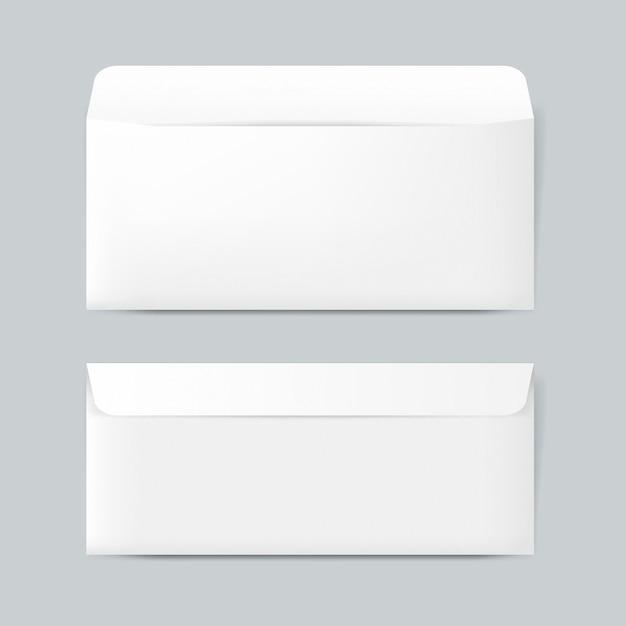 Model van het het ontwerpmodel van de duidelijke document envelop Gratis Psd