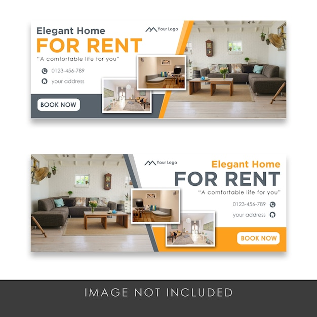 Modelli di banner immobiliari Psd Premium