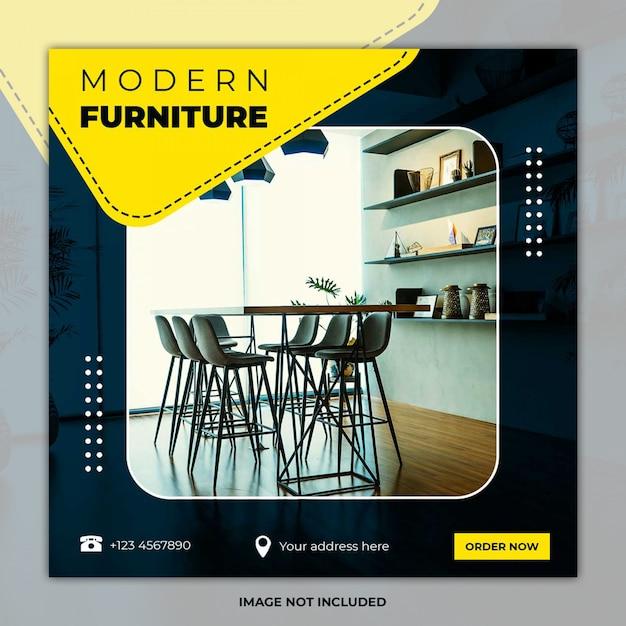 Modelli di post di social media di interior design Psd Premium
