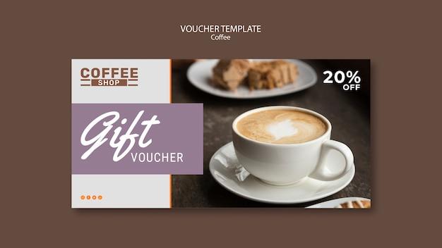 Modello del buono regalo della caffetteria Psd Gratuite