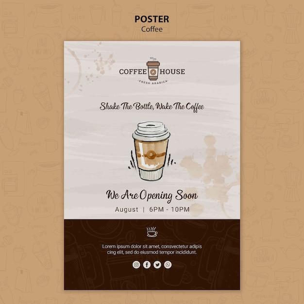 Modello del manifesto della caffetteria Psd Gratuite