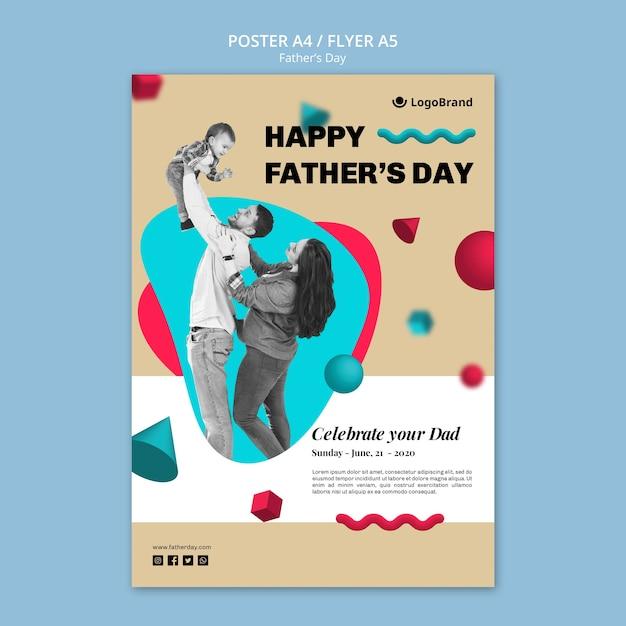 Modello del manifesto di festa del papà della riunione della famiglia Psd Gratuite