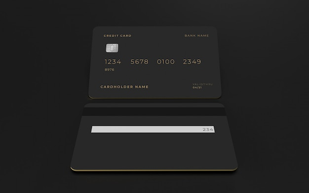 Modello del modello di concetto di progetto della carta di credito 3d Psd Premium