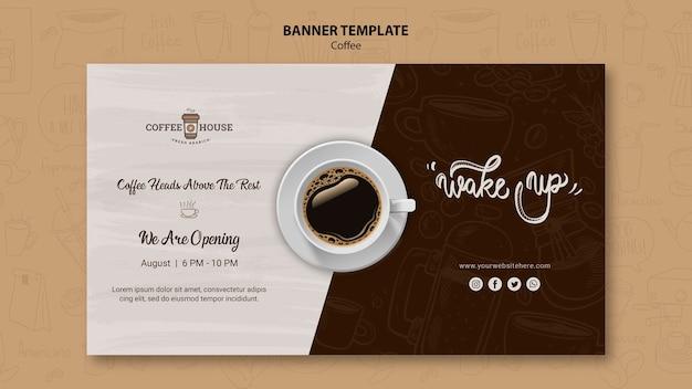 Modello dell'insegna della caffetteria Psd Gratuite