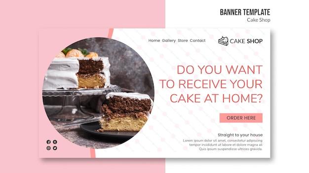 Modello dell'insegna di concetto del negozio di torta Psd Gratuite