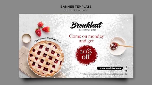 Modello dell'insegna di concetto di colazione Psd Gratuite