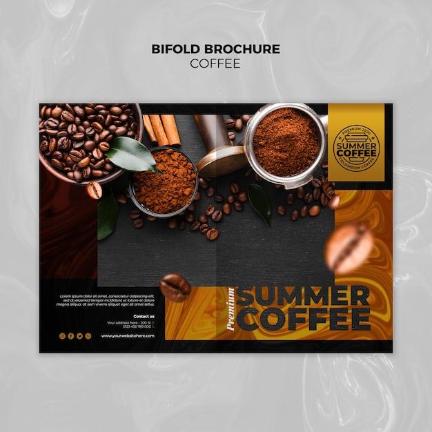 Modello dell'opuscolo bifold caffetteria Psd Gratuite