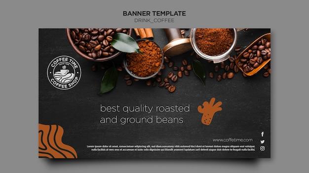 Modello della bandiera del caffè Psd Gratuite