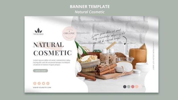 Modello della bandiera di cosmetici naturali Psd Gratuite