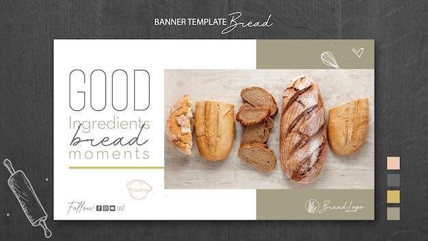 Modello di banner concetto di pane Psd Gratuite