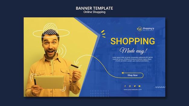 Modello di banner dello shopping online Psd Gratuite