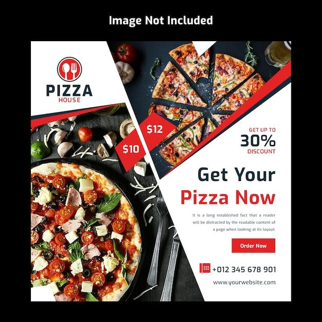 Modello di banner di cibo social media post per ristorante Psd Premium