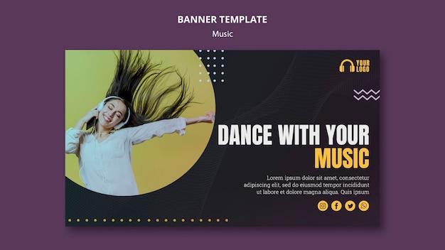 Modello di banner di evento musicale Psd Gratuite