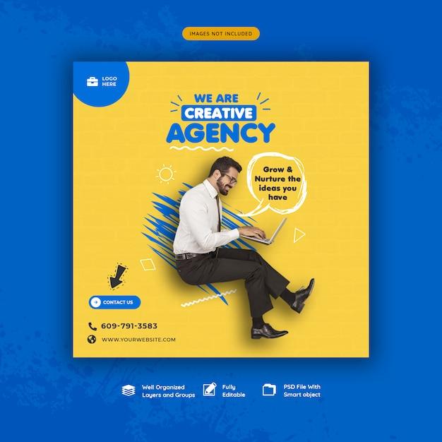Modello di banner di promozione aziendale e social media creativi Psd Premium