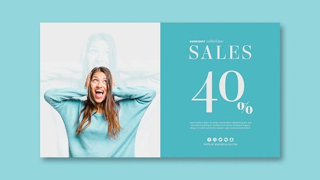 Modello di banner di vendita con immagine Psd Gratuite