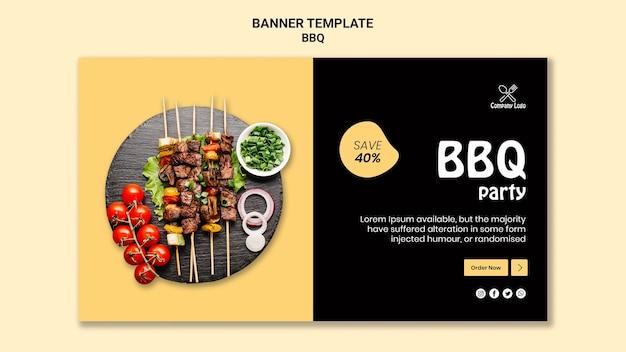 Modello di banner festa barbecue Psd Gratuite