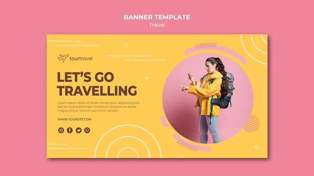 Modello di banner orizzontale per esperienza di viaggio Psd Gratuite