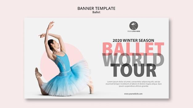 Modello di banner per spettacoli di balletto Psd Gratuite