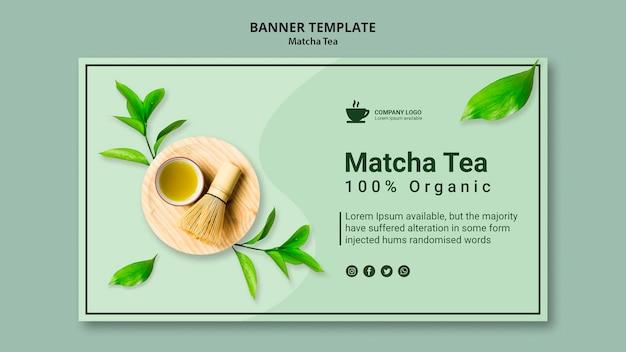Modello di banner per tè matcha Psd Gratuite