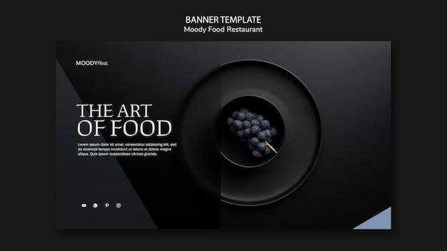 Modello di banner ristorante cibo lunatico Psd Gratuite