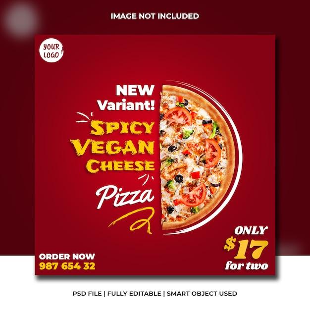 Modello di banner ristorante italiano Psd Premium