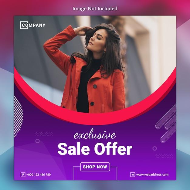 Modello di banner social media vendita esclusiva Psd Premium
