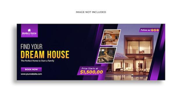 Modello di banner web per i social media immobiliari post modello psd premium Psd Premium