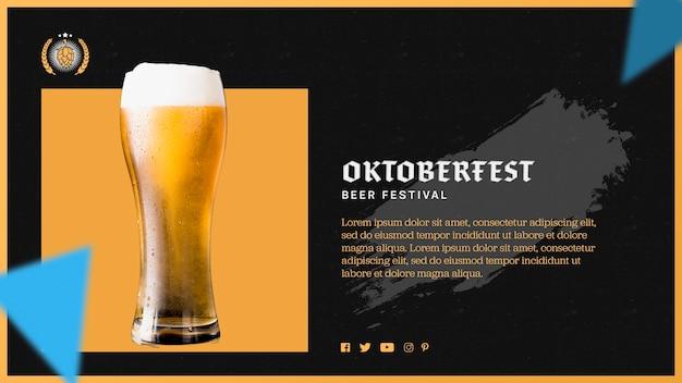 Modello di bicchiere di birra oktoberfest Psd Gratuite