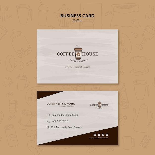 Modello di biglietto da visita della caffetteria Psd Gratuite