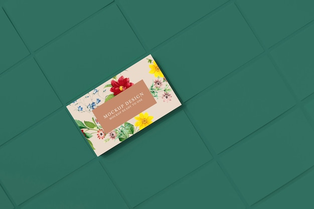 Modello di biglietto da visita floreale modello Psd Premium