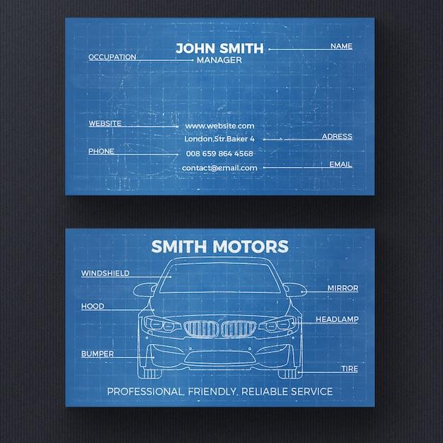 Modello di biglietto da visita modello auto Psd Gratuite