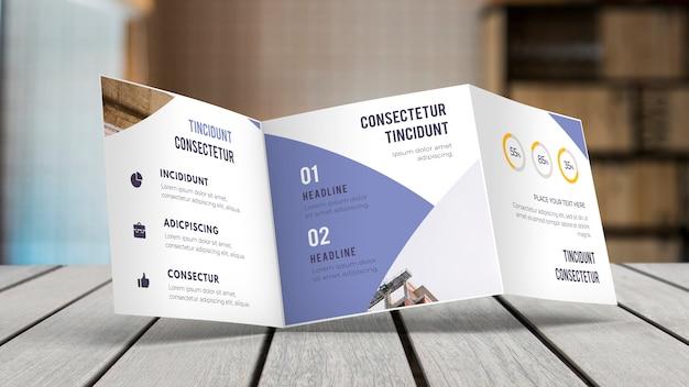 Modello di brochure a tre ante Psd Gratuite