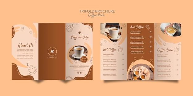 Modello di caffè brochure a tre ante delizioso caffè Psd Gratuite