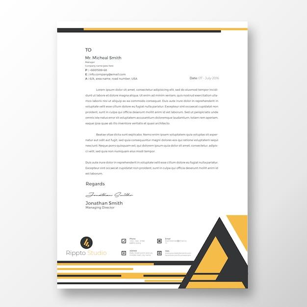 Modello di carta intestata moderna professionale Psd Premium