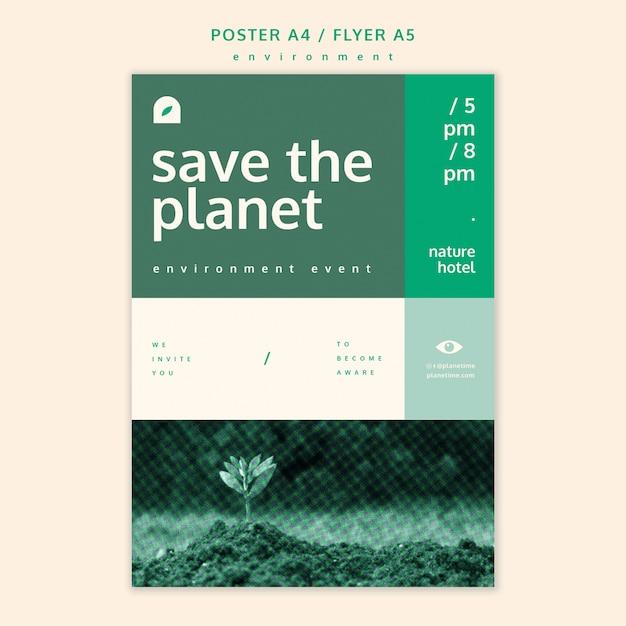 Modello di concetto del manifesto dell'ambiente Psd Gratuite