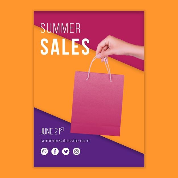 Modello di copertina di vendite estive Psd Gratuite