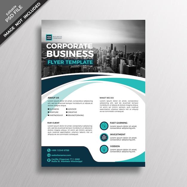 Modello di disegno astratto moderno business flyer Psd Premium