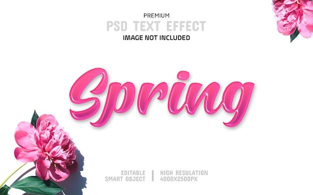 Modello di effetto testo primavera modificabile Psd Premium