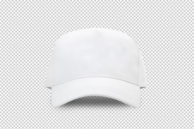 Modello di mockup berretto da baseball bianco Psd Premium
