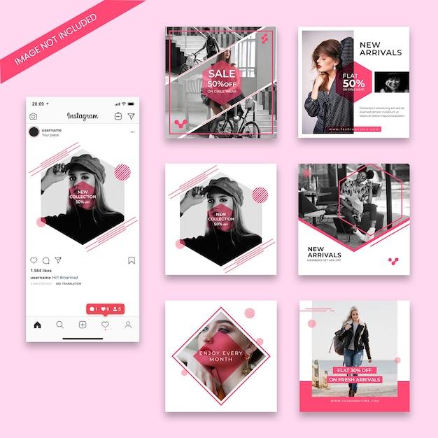Modello di post di instagram di vendita di moda Psd Premium