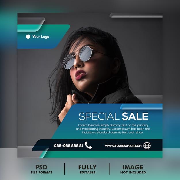Modello di post di instagram social media vendita Psd Premium