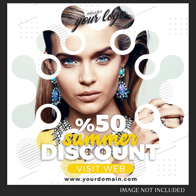 Modello di post di moda vendita di instagram Psd Premium