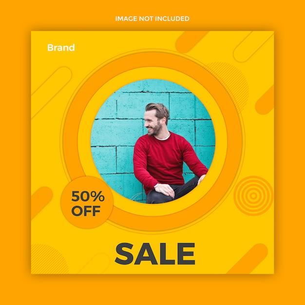 Modello di post di social media di vendita Psd Premium