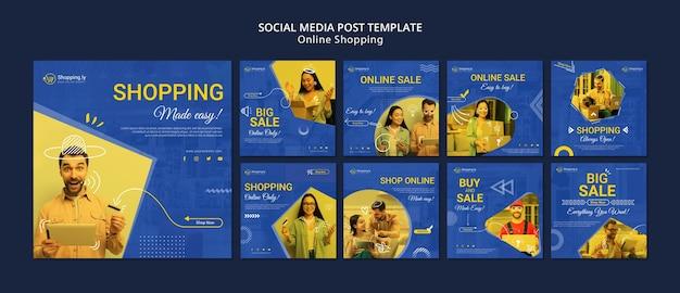 Modello di post di social media shopping online Psd Gratuite