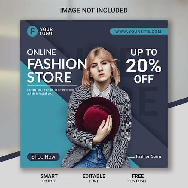 Modello di post di social media vendita di moda Psd Premium