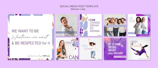 Modello di post social media giorno delle donne Psd Gratuite