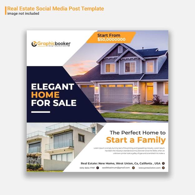 Modello di post social media immobiliare Psd Premium