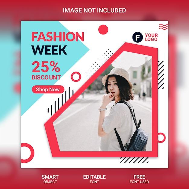 Modello di post social media moda Psd Premium