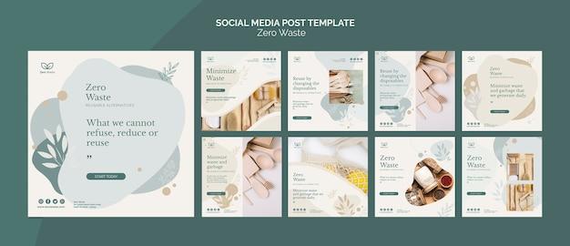 Modello di post social media zero prodotti di scarto Psd Gratuite