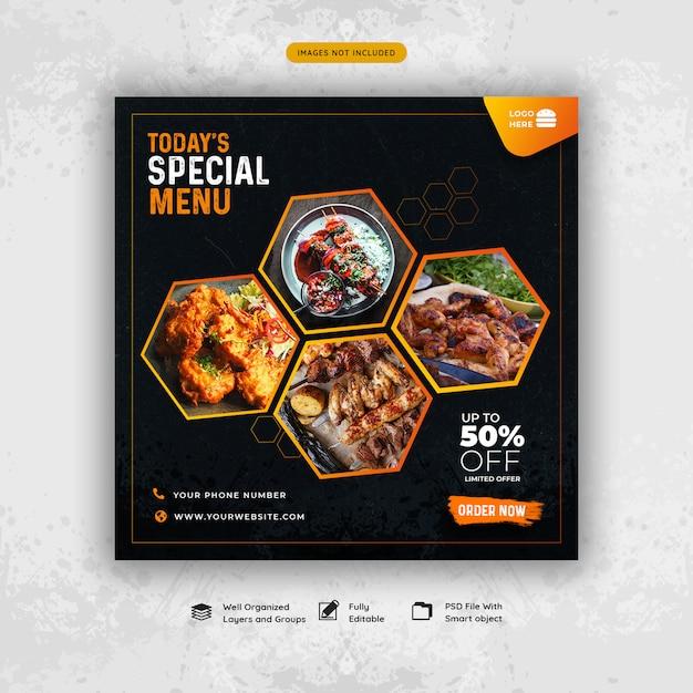 Modello di post sociale alimentare Psd Premium